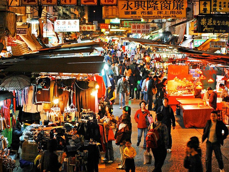 Temple Street Night Market, pasar murah di Hong Kong