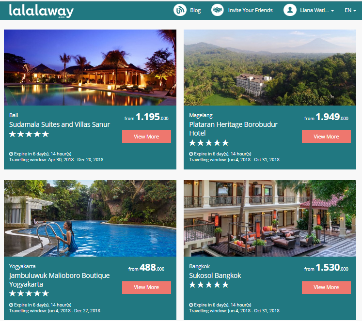 situs booking hotel, flash sale, Lalalaway